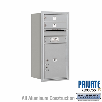 Salsbury 3709S-02ARP 4C Mailboxes 2 Tenant Doors Rear Loading
