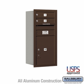 Salsbury 3709S-02ZRU 4C Mailboxes 2 Tenant Doors Rear Loading