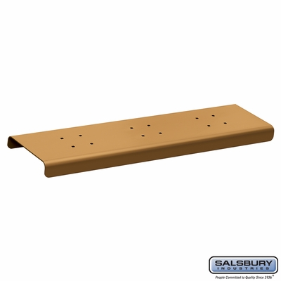 Salsbury 4382D-BRS 2 Wide Spreader For Designer Roadside Mailbox Brass Finish