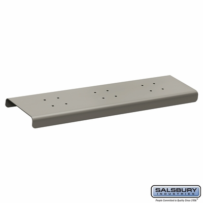 Salsbury 4382D-NIC 2 Wide Spreader For Designer Roadside Mailbox Nickel Finish