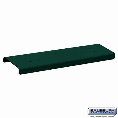 Salsbury 4382GRN 2 Wide Spreader For Roadside Mailboxes Green