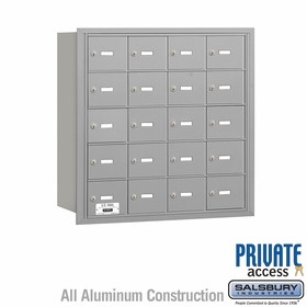 Salsbury 3620ARP 4B Mailboxes 19 Tenant Doors Rear Loading - Private Access
