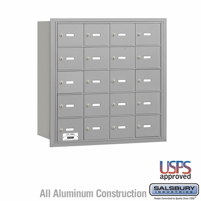 Salsbury 3620ARU 4B Mailboxes 19 Tenant Doors Rear Loading - USPS Access