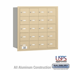 Salsbury 3620SRU 4B Mailboxes 19 Tenant Doors Rear Loading - USPS Access