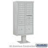 Salsbury 3416D-20GRY 20 Door 4C Pedestal Mailbox - Gray with Parcel Locker