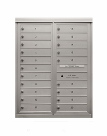 Anodized Finish 4C Mailboxes - 14 to 20 Tenant Doors