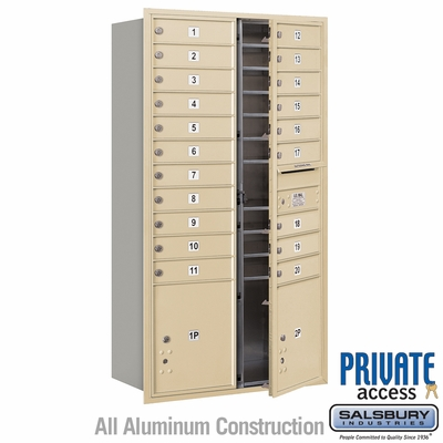 Salsbury 3716D-20SFP 4C Mailboxes 20 Tenant Doors Front Loading