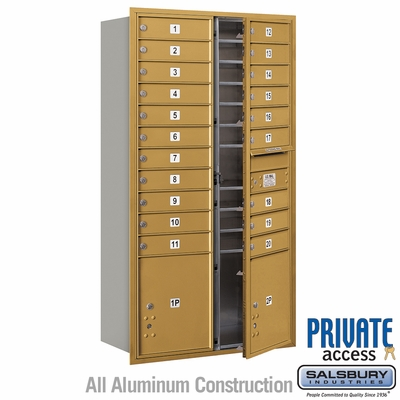 Salsbury 3716D-20GFP 4C Mailboxes 20 Tenant Doors Front Loading