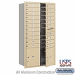 Salsbury 3716D-20SFU 4C Mailboxes 20 Tenant Doors Front Loading