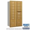 Salsbury 3716D-20GRP 4C Mailboxes 20 Tenant Doors Rear Loading