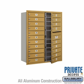 Salsbury 3711D-20GFP 4C Mailboxes 20 Tenant Doors Front Loading
