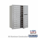 20 Tenant Doors Front Loading USPS APPROVED 4C Horizontal Mailboxes - Aluminum