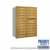 Salsbury 3711D-20GRP 4C Mailboxes 20 Tenant Doors Rear Loading