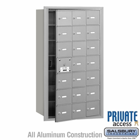4B Mailboxes 21 Doors (20 Usable) Front Loading - Private Use