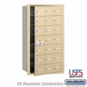 Salsbury 3621SFU 4B Mailboxes 20 Tenant Doors Front Loading - USPS Access