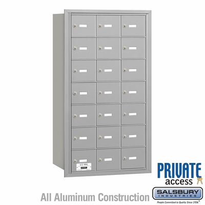 Salsbury 3621ARP 4B Mailboxes 20 Tenant Doors Rear Loading - Private Access
