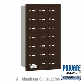 Salsbury 3621ZRP 4B Mailboxes  20 Tenant Doors Rear Loading - Private Access