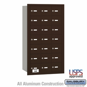 Salsbury 3621ZRU 4B Mailboxes 20 Tenant Doors Rear Loading - USPS Access