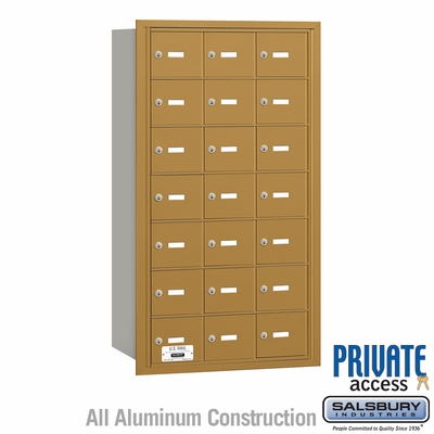 Salsbury 3621GRP 4B Mailboxes 20 Tenant Doors Rear Loading - Private Access