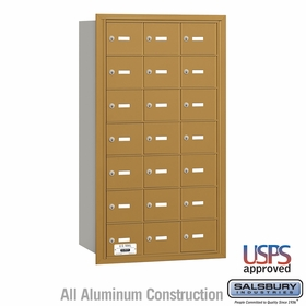 Salsbury 3621GRU 4B Mailboxes 20 Tenant Doors Rear Loading - USPS Access