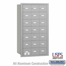 Salsbury 3621ARU 4B Mailboxes 20 Tenant Doors Rear Loading - USPS Access