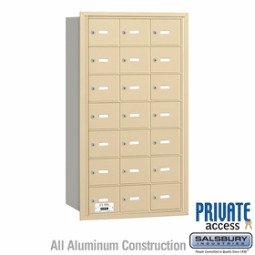Salsbury 3621SRP 4B Mailboxes 20 Tenant Doors Rear Loading - Private Access
