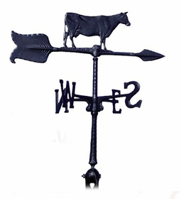 "Whitehall 24"" Accent Directions COW Weathervane in Black"