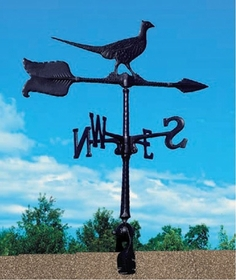 "Whitehall 24"" Accent Directions PHEASANT Weathervane in Black"