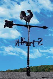 "Whitehall 24"" Accent Directions ROOSTER Weathervane in Black"