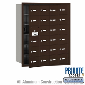 Salsbury 3624ZFP 4B Mailboxes 23 Tenant Doors Front Loading - Private Access