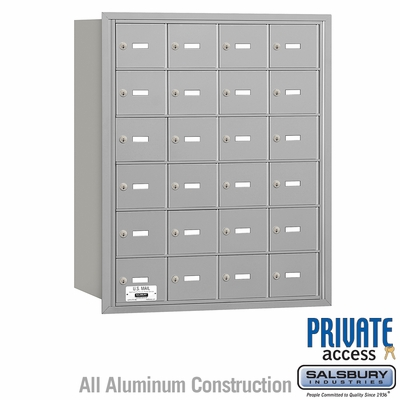 Salsbury 3624ARP 4B Mailboxes 23 Tenant Doors Rear Loading - Private Access