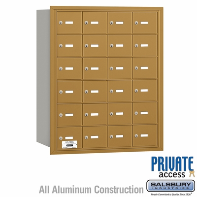 Salsbury 3624GRP 4B Mailboxes 23 Tenant Doors Rear Loading - Private Access