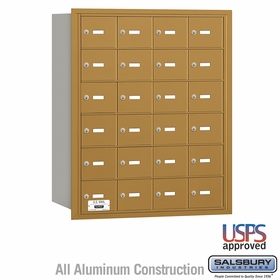 Salsbury 3624GRU 4B Mailboxes 23 Tenant Doors Rear Loading - USPS Access