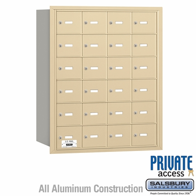 Salsbury 3624SRP 4B Mailboxes 23 Tenant Doors Rear Loading - Private Access