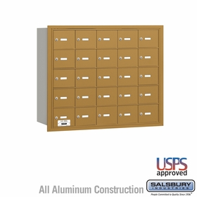 Salsbury 3625GRU 4B Mailboxes 24 Tenant Doors Rear Loading - USPS Access