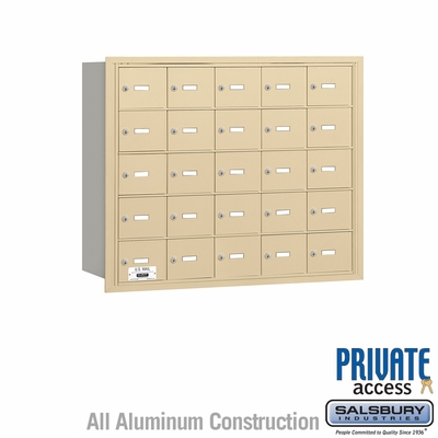 Salsbury 3625SRP 4B Mailboxes 24 Tenant Doors Rear Loading - Private Access
