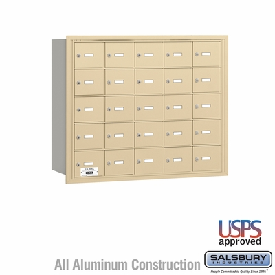 Salsbury 3625SRU 4B Mailboxes 24 Tenant Doors Rear Loading - USPS Access