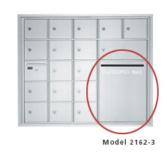 "2600 Series Mailbox Outgoing Compartment w/ Mail Slot - 16-1/2""H x 12-15/16""W (3H x 2W)"