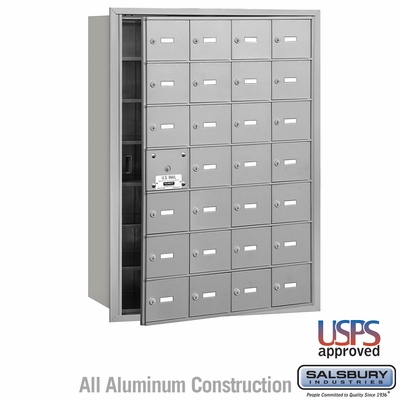 Salsbury 3628AFU 4B Mailboxes 27 Tenant Doors Front Loading - USPS Access