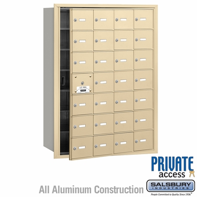 Salsbury 3628SFP 4B Mailboxes 27 Tenant Doors Front Loading - Private Access