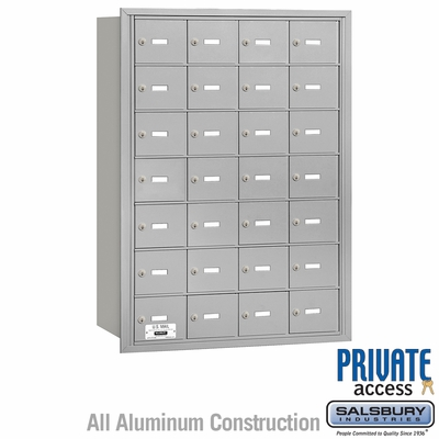 Salsbury 3628ARP 4B Mailboxes 27 Tenant Doors Rear Loading - USPS Access