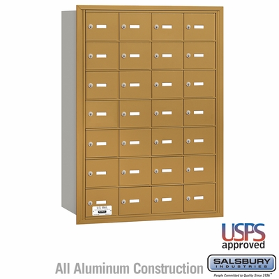 Salsbury 3628GRU 4B Mailboxes 27 Tenant Doors Rear Loading - USPS Access