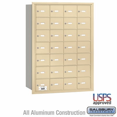 Salsbury 3628SRU 4B Mailboxes 27 Tenant Doors Rear Loading - USPS Access
