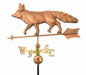"29"" Fox - Polished Weathervane"