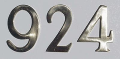 "3"" Brass Numbers (Adhered to Address Plaque by Manufacturer)"