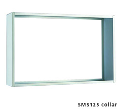 Collar for 7 Wide Semi Recessed Vertical Mailbox - Anodized Aluminum