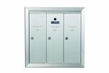 3 Door Recessed Vertical Mailboxes