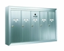 6 Compartment Fully Recessed Vertical Replacement Mailboxes- Anodized Aluminum