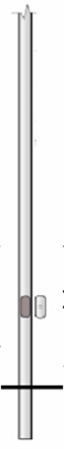 4 inch Diameter Smooth Aluminum Direct Burial Commercial Light Pole with Access Door
