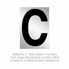 Salsbury 1215-C 3 Inch Reflective Letter C
